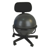 "CanDo Mobile Metal Ball Chair with 22"" Ball"