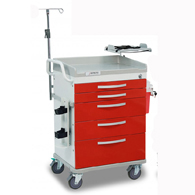 Detecto Whisper Series ER Medical Carts-Red