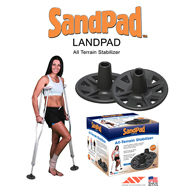SandPad LandPad All-Terrain Stabilizer for Canes-Pair