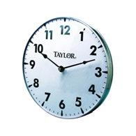 "Taylor 161 18"" Metal Patio Clock"